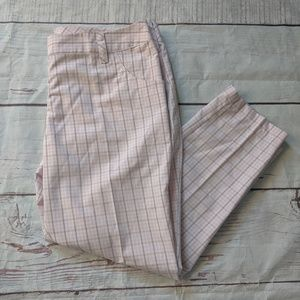 Adidas Climalite Plaid Crop Pant Size 12